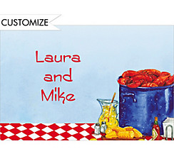 Party with Lobsters Custom Thank You Note