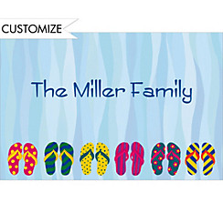 Pool Party Flip Flop Custom Thank You Note