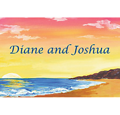 Sunset on the Beach Custom Thank You Note