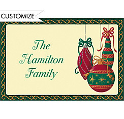 Painterly Ornaments Custom Christmas Thank You Note