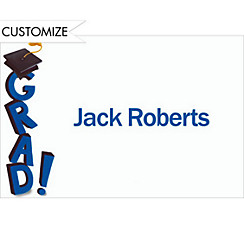 Toppling Grad Custom Thank You Notes