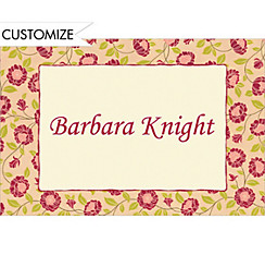 Kitschy Red Blooms Custom Thank You Note