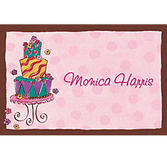 Girly Cake Custom Thank You Note