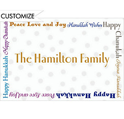 Fun Hanukkah Wishes Custom Thank You Note