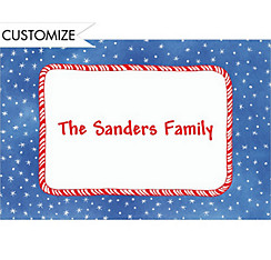 Candy Stripe & Stars Custom Christmas Thank You Note