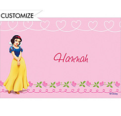 Snow White on Hearts & Swirls Custom Thank You Note