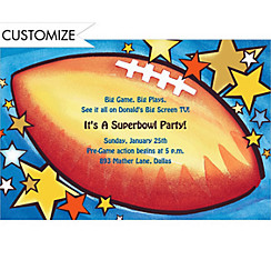 All-Star Football Custom Invitation