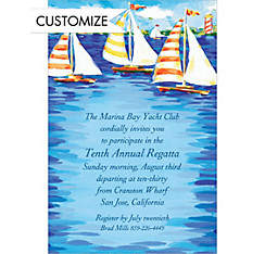 Sailboats on the Water Custom Invitation
