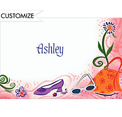 Teen Fashion Custom Thank You Note