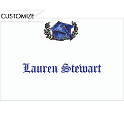 Graduation Scrollwork Custom Thank You Notes