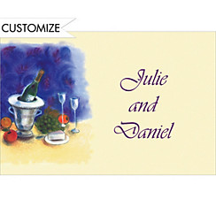 Still Life with Wine Custom Thank You Note