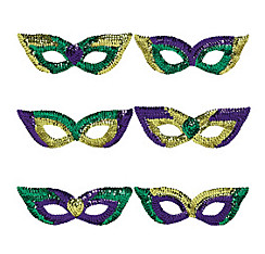 Sequin Mardi Gras Eye Masks 6ct