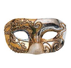 Gold & Silver Teatro Masquerade Mask