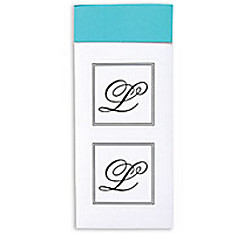 Monogram Envelope Seals L 30ct