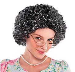Curly Grandma Wig