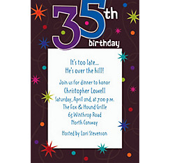The Party Continues 35 Custom Invitation