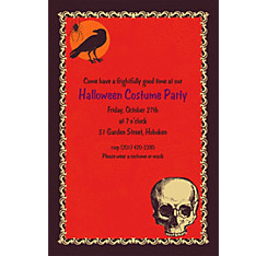 Be Afraid Halloween Custom Invitation