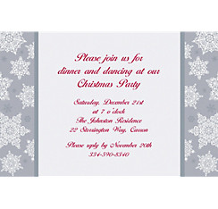 Shining Season Custom Christmas Invitation