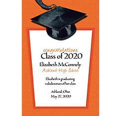 Custom Orange Congrats Grad Announcements