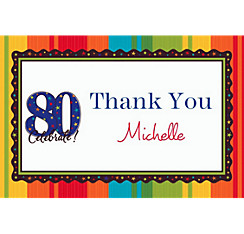 A Year to Celebrate 80 Custom Thank You Note