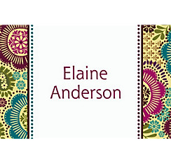 Fashion Floral Custom Thank You Note