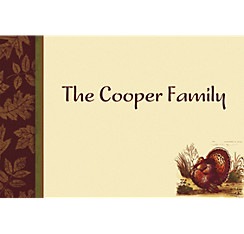 Thanksgiving Sophistication Custom Thank You Note
