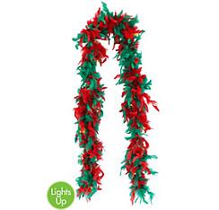 Light-Up Christmas Feather Boa