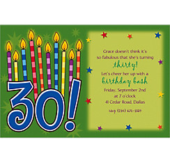 Great Birthday 30 Custom Invitation