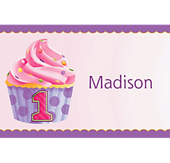 1st Birthday Pink Custom Thank You Note