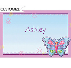 Fluttering Butterfly Custom Thank You Note