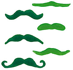 St. Patrick's Day Moustaches 6ct