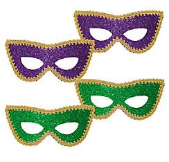 Mardi Gras Glitter Eye Masks 4ct