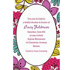 Floral Chic Custom Invitation