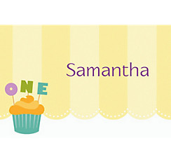 Lined Up Cupcakes Custom Thank You Note