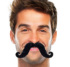 Black Handlebar Moustache