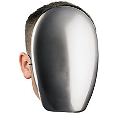Adult No Face Chrome Mask