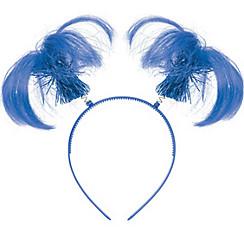 Blue Ponytail Head Bopper
