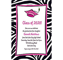 Cute Grad Girl Custom Graduation Invitation
