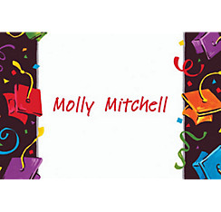 Custom Colorful Grad Party Graduation Thank You Notes