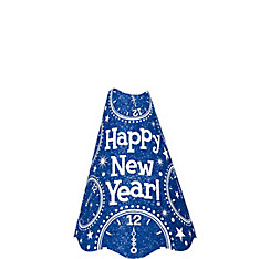 Glitter Blue New Year's Cone Hat