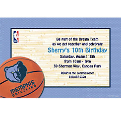 Memphis Grizzlies Custom Invitation