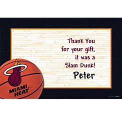 Miami Heat Custom Thank You Note