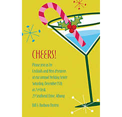 Christmas Party Cocktail Custom Invitation