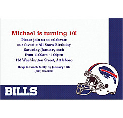 Buffalo Bills Custom Invitation