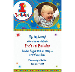 One-derful Birthday Boy Custom Photo Invitation
