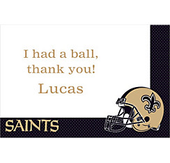 New Orleans Saints Custom Thank You Note
