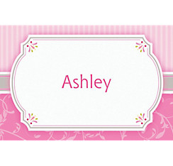 Pink Communion Blessings Custom Thank You Note