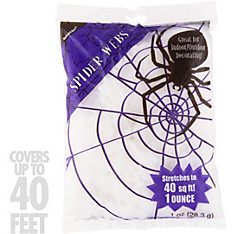 White Stretch Spider Web