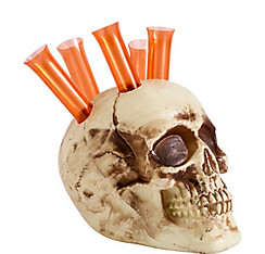 Skull Holder with Shot Glasses