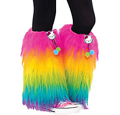 Girls Furry Hello Kitty Leg Warmers